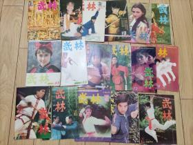 武林(1986年第7,8,9,11,12期)(1987年第2,3,4,6,10,11期)(1988年第4,5,6,10,11,12期)17册合售