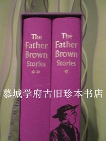 【THE FOLIO SOCIETY】布面精装/函套/插图本/切斯特顿《名侦探神父布朗》上下册 G.K. Chesterton:The Father Brown Stories, Illustrations by Val Biro