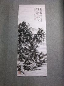 吴老 国画山水画 手绘原稿真迹 画心软片