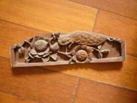 民国雕刻板(住房或床檐自鉴)【雌雄鸟儿一对】