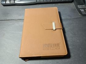 现代牛皮封面笔记本   未写划