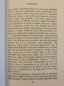 On Formally Undecidable Propositions of Principia Mathematica and Related Systems(现货,实拍书影)
