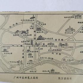 广州市区游览点简图