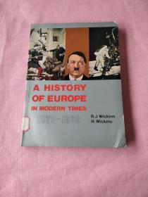 A HISTORY OF EUROPE IN MODERN TIMES 1870–1960 (近代欧洲史)16开馆藏书