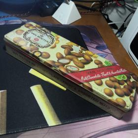 老铁皮盒子 梵豪登巧克力铁盒 VAN HOUTEN 80年代铁盒 果仁夹心牛奶巧克力铁盒 绝版老铁盒子