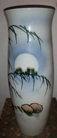浩然斋集瓷之五十二:景德镇瓷绘精品意境幽远《栖月图》赏瓶