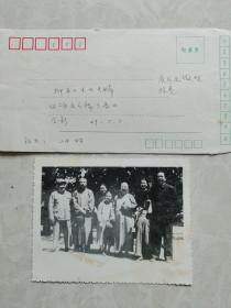 民国珍稀老照片:1949年5月5日柳亚子夫妇回访毛主席于香山合影留念。照片上有毛主席和朱总司令。