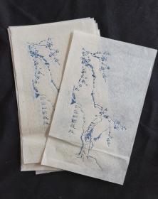 木板水印信笺纸5张宣纸