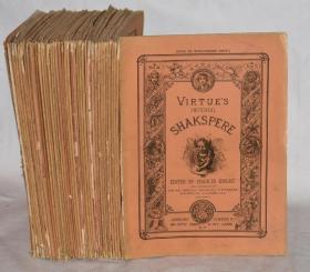 1865年 The Plates for Works OF WILLIAM SHAKESPEARE《莎士比亚钢版画集》珍贵皇家版初版本 大象对开本39册 大量绝美巨幅钢版画插图