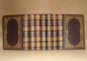 1849年The Poetical Works of William Wordsworth《华兹华斯诗全集》全摩洛哥羊皮满堂烫金古董书7册全 珍贵初版本 钢版画 品相佳