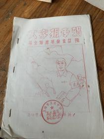 5683:红印大字报专辑  星火燎原革命造反队  油印本20页