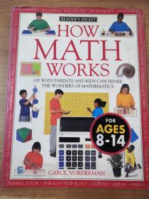 How Math Works: 100 Ways Parents and Kids Can Share the Wonders of the Mathematics 英文原版 铜版纸彩印
