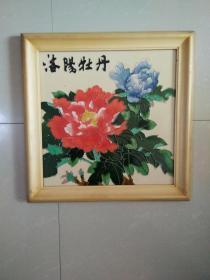 瓷板画 洛阳牡丹