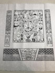 北京木版年画  ——百分纸马  土科(四尺斗方印制(68×68)cm