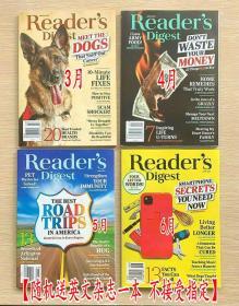 美国版 READER'S DIGEST 读者文摘2021年3+4+5+6月 4本打包 英文生活类杂志