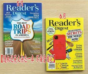包邮 美国版 READER'S DIGEST 读者文摘2021年5+6月 2本打包 英文生活类杂志