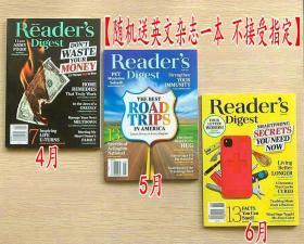 美国版 READER'S DIGEST 读者文摘2021年4+5+6月 3本打包英文生活类杂志