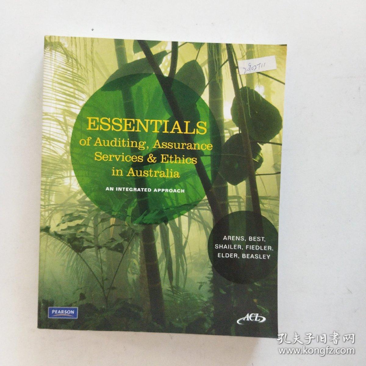 【外文原版】Essentials of Auditing, Assurance Services & Ethics in Auseralia