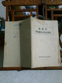 杭州市街巷新旧名称对照表