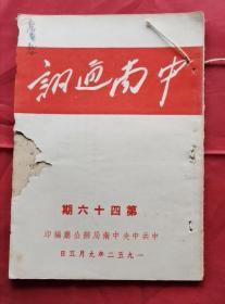 中南通讯 第46期 52年版 包邮挂刷
