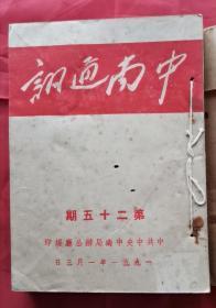 中南通讯 第25期至第33期 52年版 包邮挂刷