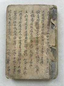 中医手抄本        写本                         针灸书