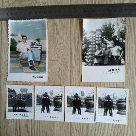 八九十年代一个家庭人物在各地风景名胜区黑白照片86张