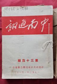 中南通讯 第34期至第39期 52年版 包邮挂刷