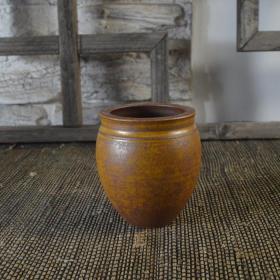 单色釉黄釉水盂