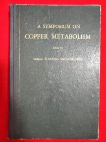 COPPER METABOLISM(铜代谢)刘骊生教授藏书【精装32开本见图】外文