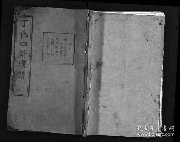 丁氏四脩宗谱 [37卷,首4卷] 复印件