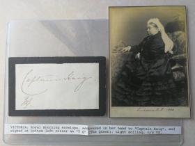 欧洲的祖母 大英帝国女王 维多利亚女王Queen Victoria 亲笔签名信封