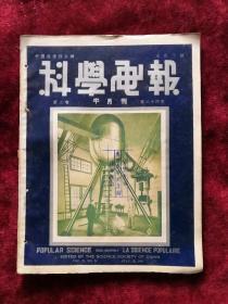 科学画报半月刊 第2卷第24期 民国24年 包邮挂刷