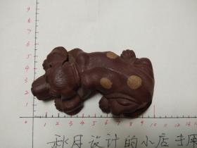 名家制作微型紫砂小狗雕件