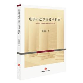 刑事诉讼立法技术研究