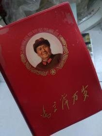 《毛主席万岁》甘肃省军区首次活学活用毛泽东思想积极分子代表大会纪念册