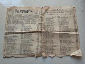 中国邮报(1938年)民国老报纸.苏区邮票专版