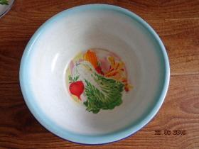 白菜、萝卜、玉米、麦穗搪瓷盆