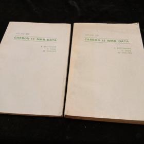 英文原版。碳---13核磁共振谱数据集第一册化合物。第二册两本