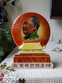 文革时期:毛主席和天安门瓷摆件