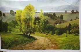 朝鲜油画 一级画家 高银姬画