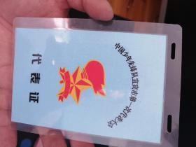 少先队宜昌市第一次代表大会代表证