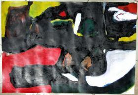 青年书画家胡子彩墨绘画作品:《晨光》