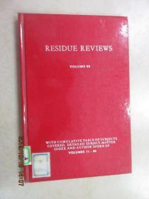 英文书  RESIDUE REVIEWS VOLUME80 精装本 共195页
