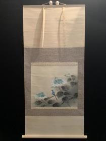 日本回流书画《翠鸟图》 字画名人真迹挂画装饰画山水画国画名家