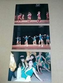 1991年西安市健美操照片三张