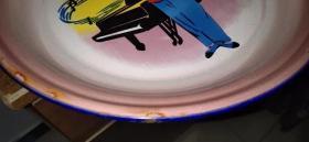 红灯记老茶盘、画工精美、造型大气、非常值得收藏。