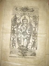 清代 西藏 木板曼荼罗画  一幅(75*51厘米)  八