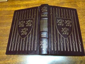Ivanhoe by Sir Walter Scott  Easton Press 真皮精装收藏版,书口三面刷金(。22k黄金) 能保存数百年的存档级别的无酸纸