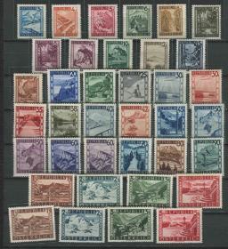 奥地利邮票 1945-1946年 奥地利风光 37全新